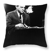 Mike Wallace (1918-2012) Throw Pillow