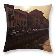 Milan Naviglio Grande Throw Pillow