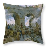 Milanese Chasing Out Austrians Throw Pillow