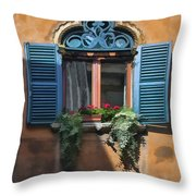 Milano Apartment Window Throw Pillow