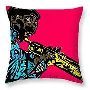 Miles Davis Full Color Throw Pillow