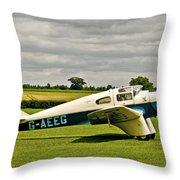 Miles M.3 Falcon Circa 1934 Throw Pillow