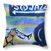 Miles Of Jazz Throw Pillow