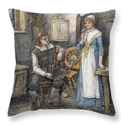 Miles Standish Throw Pillow