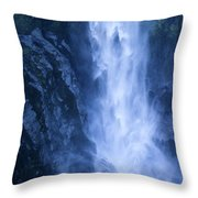 Milford Sound New Zealand Throw Pillow