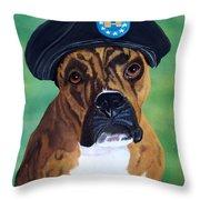 Military Boxer Throw Pillow