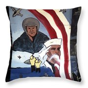 Military Mural Throw Pillow