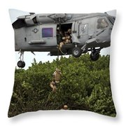 Military Reserve Navy Seals Demonstrate Throw Pillow by Michael Wood