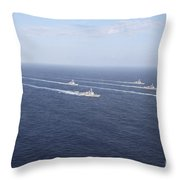 Military Ships Transit The Philippine Throw Pillow