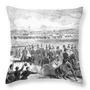 Militia Review, 1859 Throw Pillow