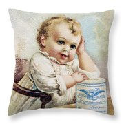 Milk Trade Card, 1893 Throw Pillow