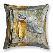 Milkweed Pods - Mirror Box Throw Pillow