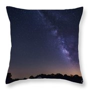 Milky Way And Perseid Meteor Shower Throw Pillow