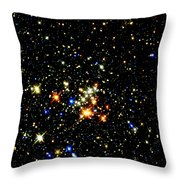 Milky Way Star Cluster Throw Pillow