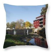 Mill Apartments Throw Pillow