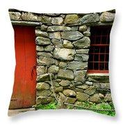 Mill Door And Window Throw Pillow