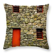 Mill House Over Stream Throw Pillow