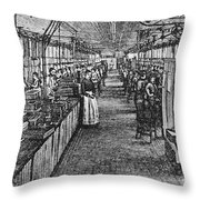 Mill Industry Throw Pillow