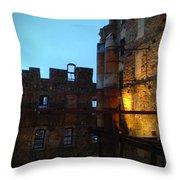 Mill Ruins Throw Pillow