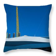 Millennium Dome Abstract Throw Pillow