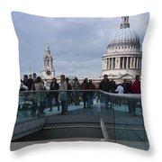 Millennium Footbridge Throw Pillow