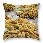 Millet Grain Throw Pillow
