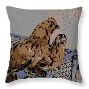 Millie Fleur D'uccle Throw Pillow