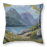 Mills Lake Throw Pillow