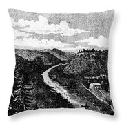 Milwaukee, C1820 Throw Pillow