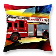 Milwaukee Truck 6 Throw Pillow