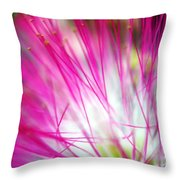 Mimosa Abstract Throw Pillow