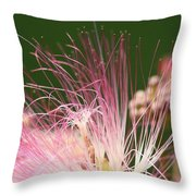 Mimosa And Worm Throw Pillow