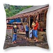 Minahasa Traditional Home 3 Throw Pillow