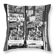 Minahasa Village Signage Bw Throw Pillow