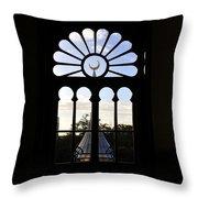 Minaret Through Window Throw Pillow