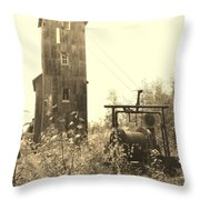 Mine Frame Revisited Throw Pillow