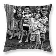Minehasa Expressions Bw Throw Pillow
