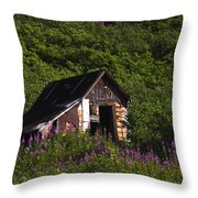 Miners Cabin Throw Pillow