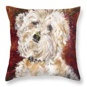 Mini Doodle Portrait Throw Pillow by Karen Ahuja
