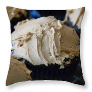 Mini Mountain Of Mocha Throw Pillow