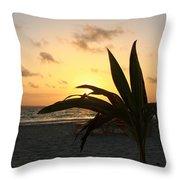 Mini Palm Hugging The Sun Throw Pillow