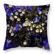 Mini Petunias Throw Pillow