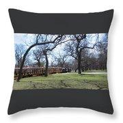 Mini Train Ride Throw Pillow