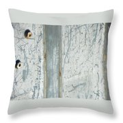 Minimalism With Two Bolts Throw Pillow
