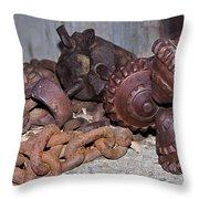 Mining Drill Bit Throw Pillow