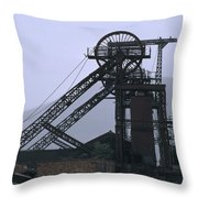 Mining History Throw Pillow