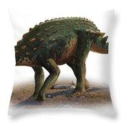 Minmi Paravertebra, A Prehistoric Era Throw Pillow