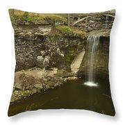 Minneopa Falls 39 Throw Pillow