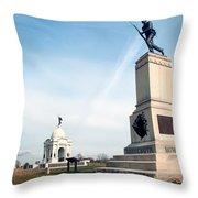 Minnesota Monument At Gettysburg Throw Pillow