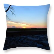 Minnesota Sunset 15 Throw Pillow
